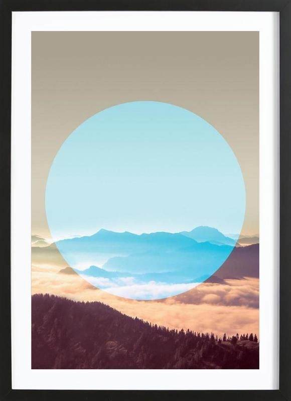 Alps Circular as Framed Poster by Joe Mania | JUNIQE