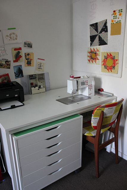 """""""My $13.32 IKEA sewing table hack. by badskirt - amy, via Flickr"""""""