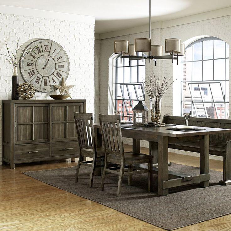 Magnussen Karlin Wood Rectangular Dining Set With Bench