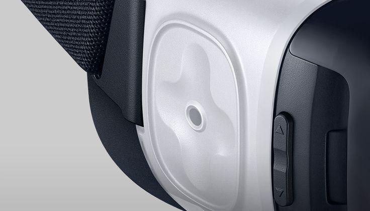Closeup of Gear VR's larger controller
