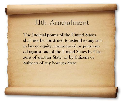 Picture Representing The 11th Amendment