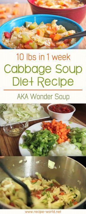 10 lbs In 1 Week Cabbage Soup Diet Recipe AKA Wonder Soup