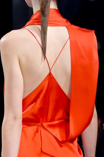 Haider Ackermann - orange asymmetric back