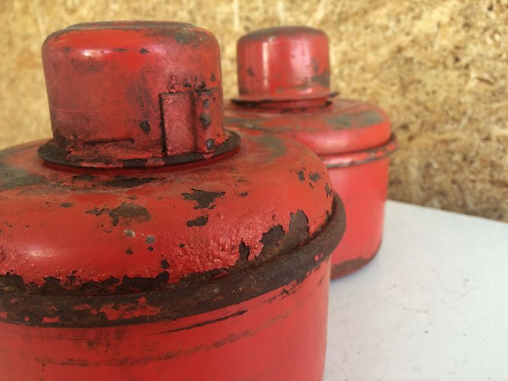 Road Flares - Vintage Red Metal Road Flare Cans - Red Road Flares - Metal Flares - Gas Flares - Truck Flares - Red Cans - Industrial Decor by Vintagietta on Etsy