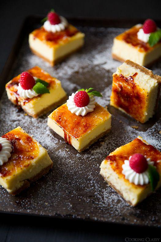 Crème Brûlée Cheesecake Bars~ Cooking Classy