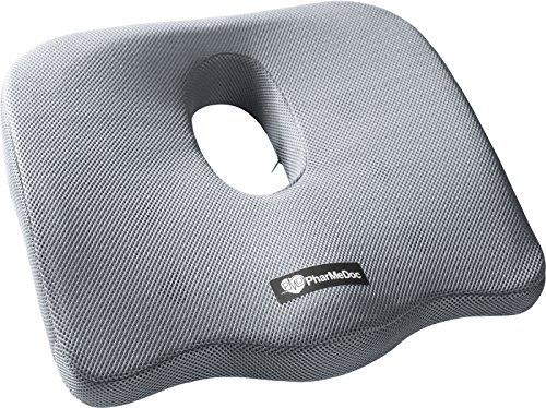 PharMeDoc Coccyx Seat Cushion -Sciatica Pillow for Back Pain –