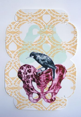 Vanessa Edwards, I nga wa o mua..., etching and relief (framed) on 500 x 350 mm paper, 1 of 1, 2012. NZ$650 incl GST.
