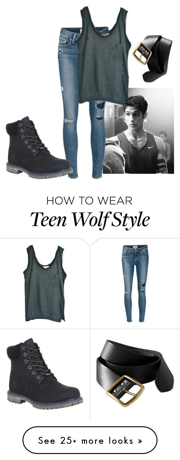 """""""Scott McCall"""" by cutiepieluke on Polyvore featuring mode, Paige Denim, American Vintage, Old Navy et Timberland"""