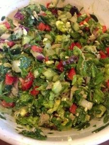 METABOLISM BOOSTING Chopped Greek Salad Recipe (free recipes at www.loseweightbyeating.com)