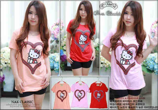 Kaos Hello Kitty Love Gantung 728186, Ready Stock, Untuk pemesanan dan informasi silahkan hubungi Admin di:  HP/WhatsApp: 085259804804