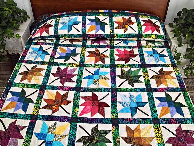 "Lancaster County Amish quilt, ""Bright Autumn Splendor"""