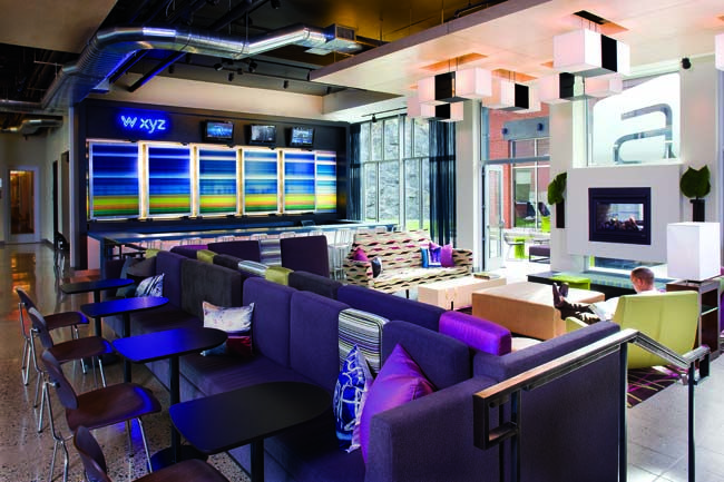 Starwood Hotels' Aloft brand is designed to bring groups fresh, modern design, shaking away from the traditional select-service segment of the hotel industry. With more than 55 properties since its launch in 2008, the Aloft brand is now making its way into the heart of Orlando's vibrant downtown with the 2013 opening of the 119-room Aloft Orlando Downtown.