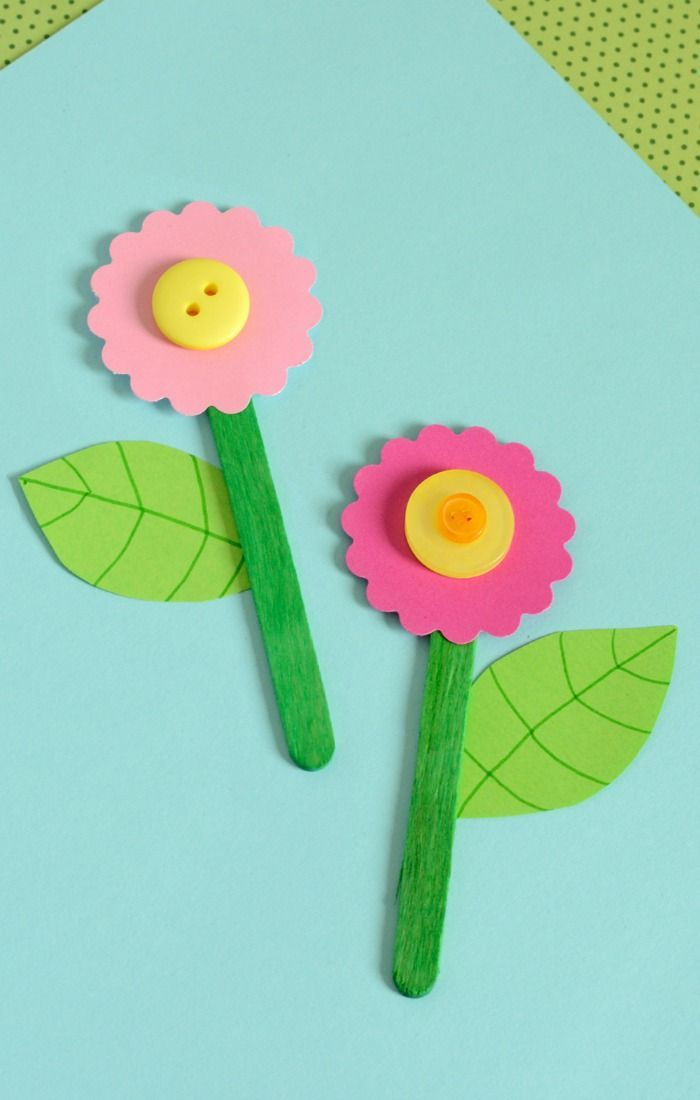 Cute Craft Stick Flower