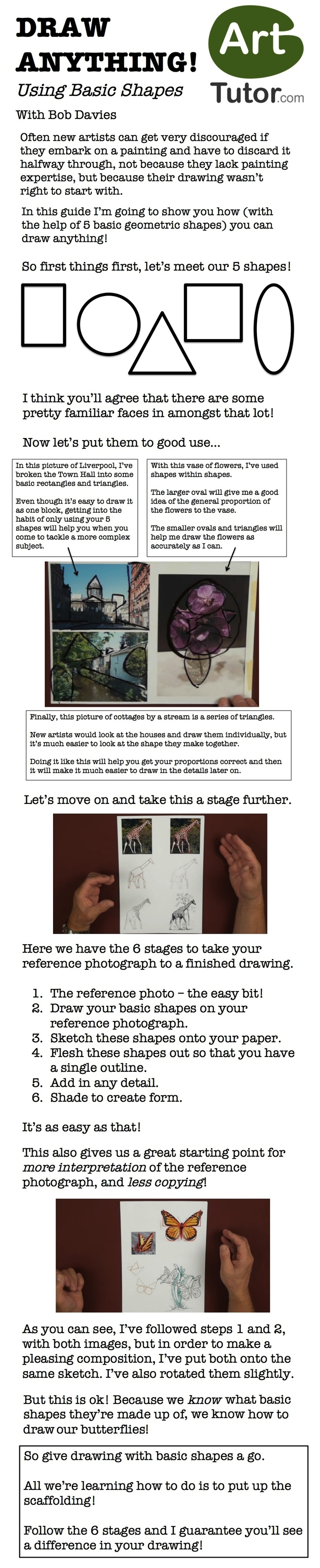 Have you ever struggled to get your drawing just right? Follow Bob Davies' instruction and use 5 shapes to draw absolutely anything!