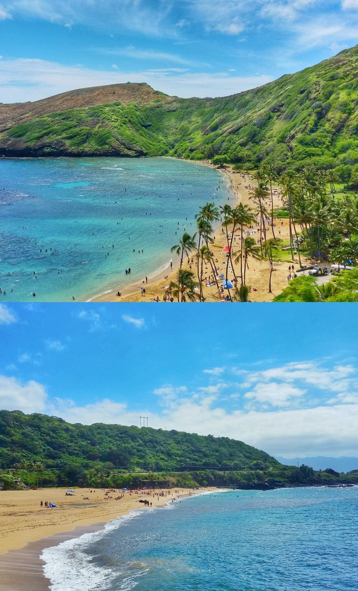 Hanauma Bay and Waimea Bay, Oahu Hawaii. Among best beaches for snorkeling in Oahu, US beaches for activities like swimming and snorkeling! Best Oahu beaches give you things to do with nearby hiking trails, food, and shopping. USA travel destinations for bucket list for world adventures when on a budget! So outside of Waikiki and Honolulu, put East Oahu and North Shore snorkeling on the Hawaii itinerary! Add snorkeling gear to Hawaii packing list and what to wear in Hawaii too.