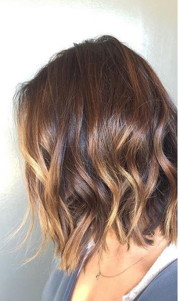 brunette ombre on short hair