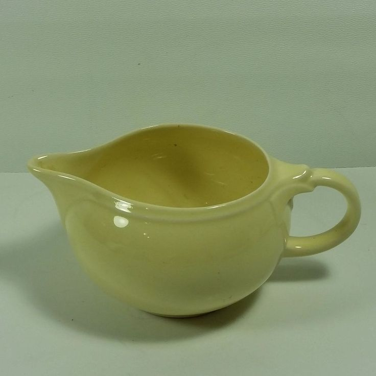 LuRay Pastels Creamer Yellow Vintage 1941 MCM Taylor Smith Taylor Persian Cream #TaylorSmithTaylor