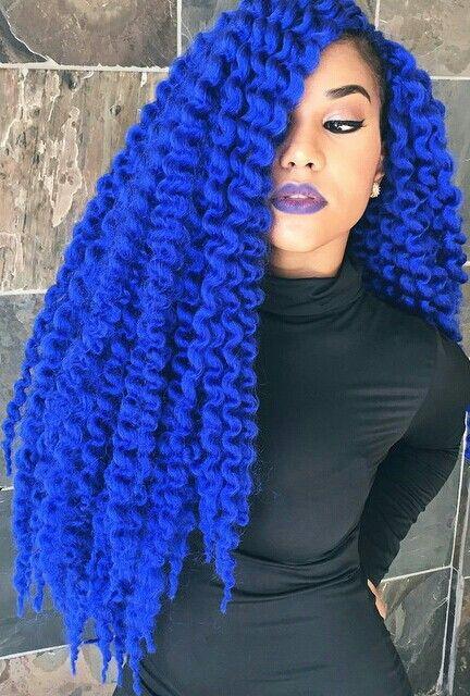 Electric royal blue curly hair www.radgair_altgirls.tumblr ...