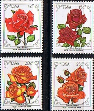 South Africa 1979 Flowers World Rose Convention Set Fine Mint SG 466 9 Scott 525 8 Other South African Stamps HERE
