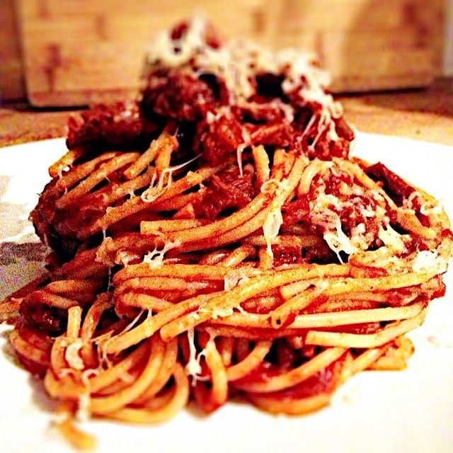 """""""What else to do with leftover braised lamb than whip up some lamb ragu & load on some #CDNcheese. #simplepleasures"""" - Kathy"""