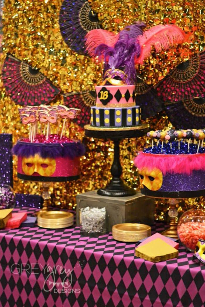 78 best images about festa tem tica carnaval baile de for 18th birthday decoration ideas for girls