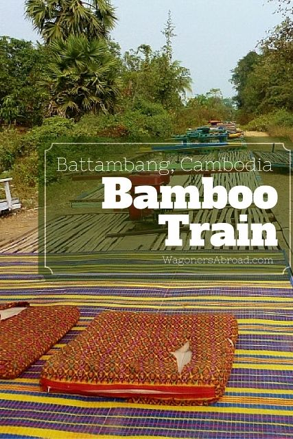 Rumor has it you need to hurry and ride the bamboo train in Battambang Cambodia. The trains will stop at some point so enjoy the train ride with video too.  Read more about the Bamboo Train Ride (Norry) on WagonersAbroad.com