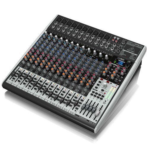 "Behringer XENYX X2442USB Premium 24-Input 4/2-Bus Mixer with XENYX Mic Preamps & Compressors. Premium ultra-low noise, high headroom analog mixer. 10 state-of-the-art, phantom-powered XENYX Mic Preamps comparable to stand-alone boutique preamps. 8 studio-grade compressors with super-easy ""one-knob"" functionality and control LED for professional vocal and instrumental sound. Studio-grade FX processor with 16 editable presets. FREE DELIVERY $431.50 BUY NOW  Make Us An Offer"