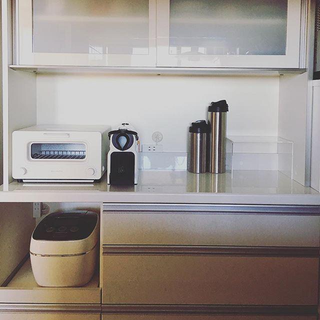 2016/12/30 12:21:56 11haruka11 大掃除が終わりました。皆さんも良いお年をお迎えください🎍 #大掃除#キッチン#食器棚#カップボード#Nespresso#ネスプレッソ#無印良品#muji#インテリア#interior#厨房#cupboard#バルミューダ#BALMUDA#instagood#japan