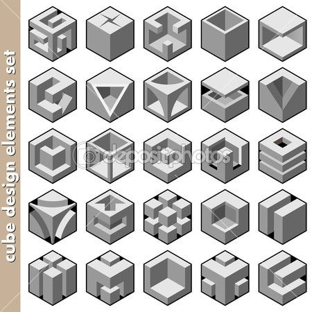 desenho da logomarca de cubo 3D pack — Ilustração de Stock #14125797