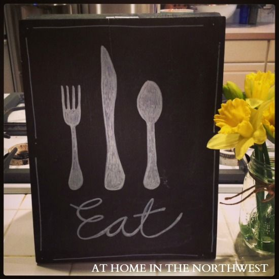 kitchen chalkboard art at home in the nw - Kitchen Chalkboard Ideas