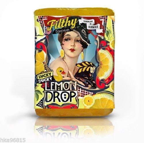 Lucky Ducky Lemon Drop All Natural Glycerin Large Bar Soap Lemon Jojoba