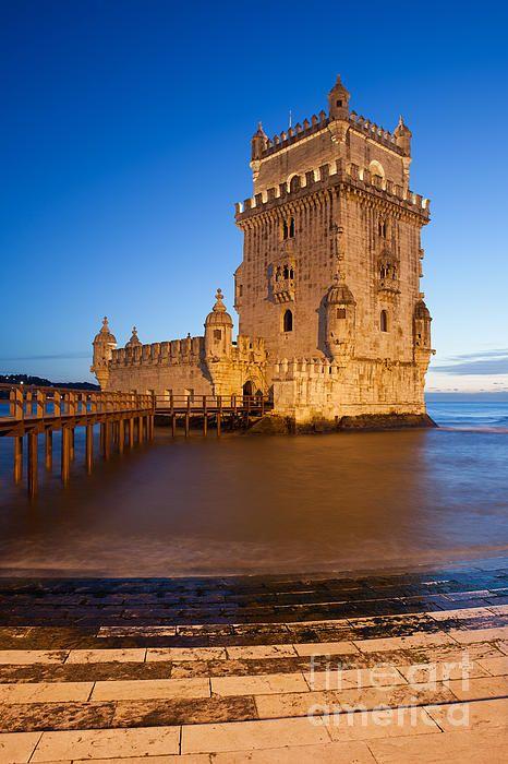 Belem Tower (Torre de Belem) on Tagus river at twilight in Lisbon, Portugal. #lisbon #lisboa #belemtower #belem #tower #torredebelem #portuguese #river #dusk #twilight #bluehour #evening #europe #architecture #architecturelovers #architecturephotography #fortification #landmark #famous #monument #historical #building #historicalplace