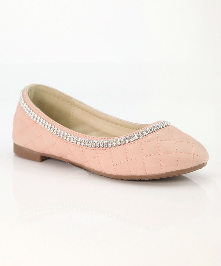Look at this Anna Shoes Pink Rhinestone Dana  Flat on #zulily today!