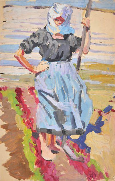 Paludière, Peinture de Mathurin Méheut