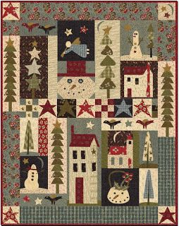 this is a cute primative holiday quilt. thank you, j