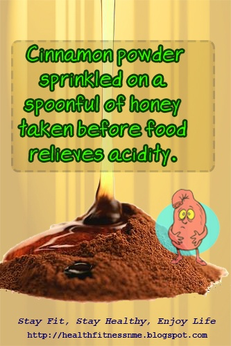 Cinnamon powder sprinkled on a spoonful of honey taken before food relieves acidity #health