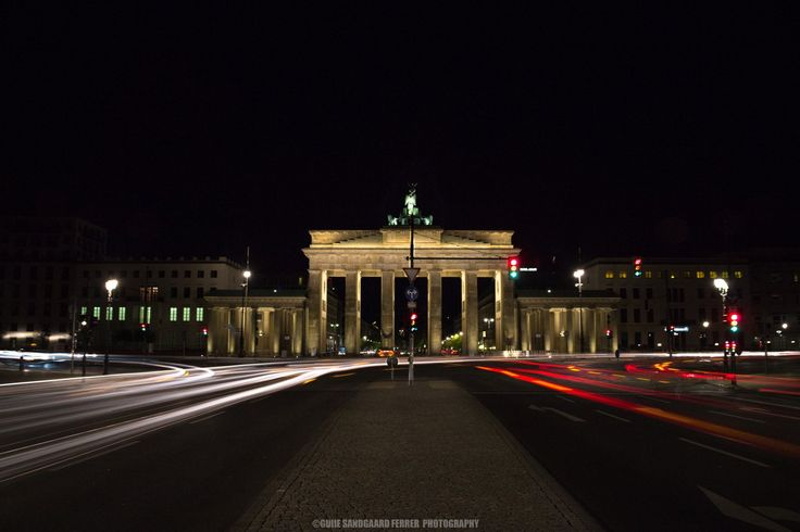 """Brandenburg Trails: """"The"""" most well-known landmark in Berlin. The Brandenburg Gate is a photogenic architectural piece of art. I made this shot to show how beautiful it looks during the night. For more photos visit www.guiiesandgaardferrer.com"""