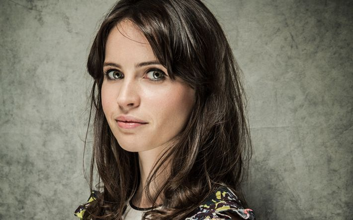 Download wallpapers Felicity Jones, English actress, portrait, photoshoot, make-up, face