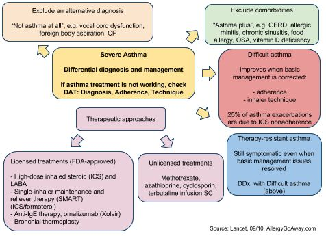 Severe Asthma - Differential diagnosis and management ...