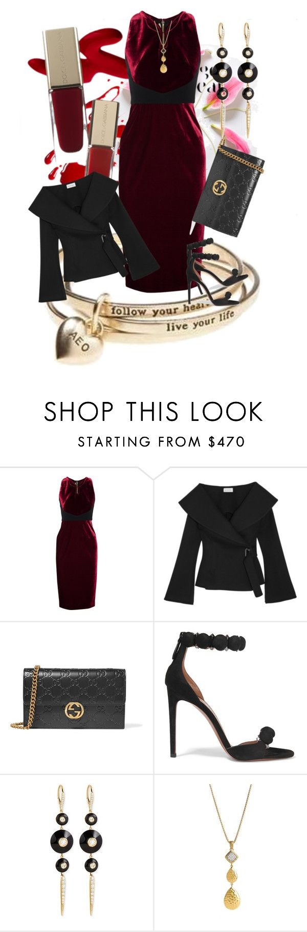 """""""Turning Heads"""" by rita257 ❤ liked on Polyvore featuring American Eagle Outfitters, Roland Mouret, Beaufille, Gucci, Alaïa, Maria Canale and John Hardy"""