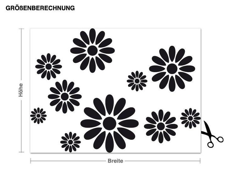 Wandtattoo Blumen Wandtattoos Pflanzen Blüten & Blätter