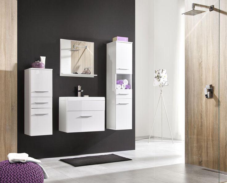 Badkamer Lupo uitgevoerd in de kleuren wit / hoogglans wit