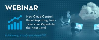 Webinar about New Cloud Control Panel Reporting Tool! Register at http://www.nervogrid.com/webinars! #cloudcomputing #webinar