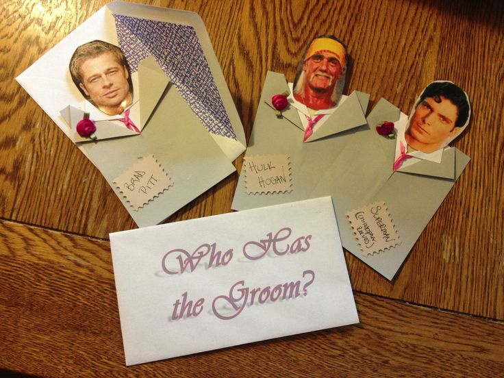 Who Has the Groom?? Hand made bridal shower game