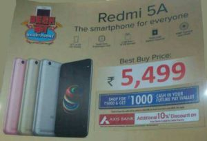 Big Bazaar Loot Offer- Buy Redmi 5A Mobile In Just Rs.3900