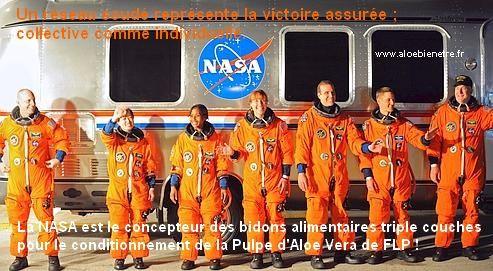 La NASA est le concepteur des bidons triple épaisseur, pour la Pulpe d'Aloe Vera Stabilisée de FLP.