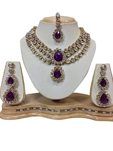 Indian Bollywood Design Purple Stones Gold Plated White P... https://www.amazon.com/dp/B01KC27POY/ref=cm_sw_r_pi_dp_x_vXSKybS6X5S0F