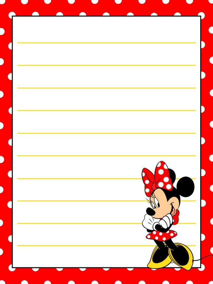 Journal Card - Minnie Mouse - Tippytoes - Dotty background - 3x4 photo by pixiesprite