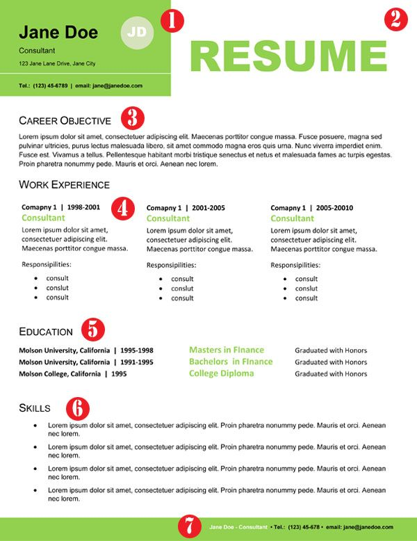 Stand Out Cv Designs : Professional resume design for non designers job