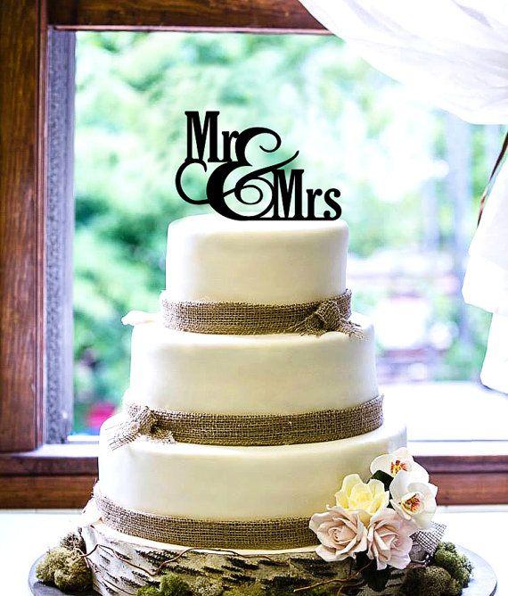 Gâteau de mariage personnalisé gravé personnalisé par CabanyCo